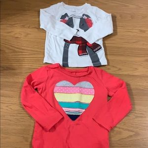 2 Carter's tees size 18 months